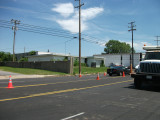 FLOOD WALL CONST. - Looking east on Chelsea@Louisville near N. Willett.