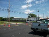 Chelsea FLOOD WALL CONST. - Looking east on Chelsea@Louisville near N. Willett