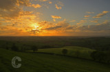 Raddon Hill and sunset