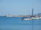 Blue day in the harbour
