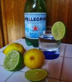 A sparkling glass of San Pellegrino