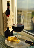 A Glass of Chianti Red