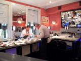 A surreptitious shot of the chef and one of his team in action