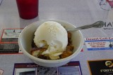 Warm cobbler with GIANT ice cream.