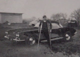 Walter Longtin his 62 Corvette and my crutches