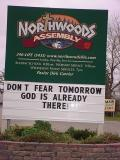 don't fear tomorrowGod is already there