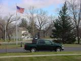 American Flag  and  Green Truck Club