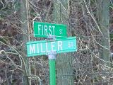 First St and Miller St  Knapp Wisconsin