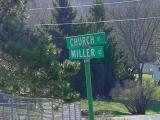 Church St & Miller St  Knapp Wisconsin