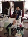 Linda Sue gets her toes done