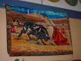 bull fight  on the wall