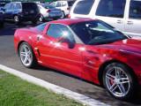 red Z O6 car show