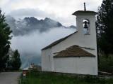 Val Fex. Iglesia en Fex Crasta