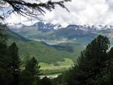 Vista desde el Camino de Muottas Muragl a Alp Languard
