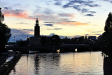 Sunset over the Stadshuset (Town Hall)
