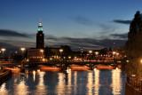 Nightfall over Stockholm