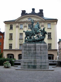 Kopmantorget. Statue of St.George and the Dragon