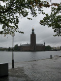 Stockholm under the rain
