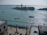 Venezia. Vista desde el Campanile. Piazzeta San Marco y Isola di San Giorgio Maggiore