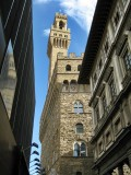 Palazzo Vecchio visto desde la Galleria degli Uffizi