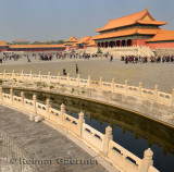 Inner Golden Water River and Gate of Supreme Harmony in Forbidden City Beijing China