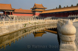 Inner Golden Water River at Gate of Supreme harmony in the Forbidden City Beijing China