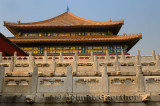Side view of the Hall of Supreme Harmony in the Forbidden City Beijing China