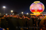 Peoples Armed Police guards at National Day celebrations in Tiananmen Square Beijing at night