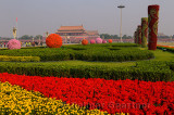 Flower decorations at 2011 National Day celebrations in Tiananmen Square Beijing China