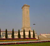 PAP guard at Monument to the Peoples Heroes obelisk in Tiananmen Square Beijing China