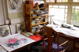 Private studio office of a professional Chinese painter in a Chichahai area hutong of Beijing