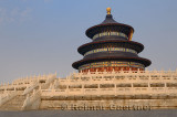 Three level marble base of Hall of Prayer for Good Harvests at Temple of Heaven Park in Beijing