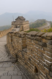 View of tower 12 and East on the Mutianyu Great Wall of China north of Beijing