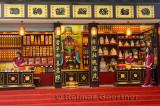 Smiling women working in the incense shop at Ling Yin Temple Hangzhou China