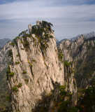 Granite bands at Beginning to Believe Peak with Stalagmite Gang at Yellow Mountain Huangshan China