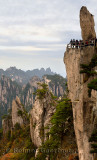 Mystical Peak Flying From Afar at West Sea Grand Canyon area of Huangshan Mountain China