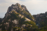 Lotus Peak with river dam from Bright Summit on Huangshan Mountain China