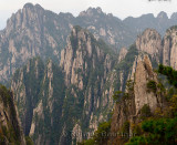 Walkways and Pagoda on Songling Peak at the West Sea area Huangshan Mountain China