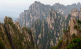 Stone Column and Songling Peaks at the West Sea area Huangshan Mountain China