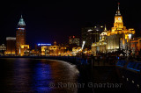 Night lights on the Bund  looking south at Huangpo River Shanghai China