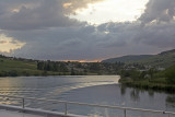 Evening on the Moselle river