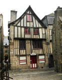 Dinan, une maison ancienne.