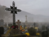 crosses in the fog