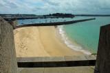 St Malo, le port et la plage.
