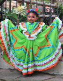 Young dancer in Mexican Folklorico Ballet