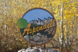 Sign for  lovely village of  Aspendell in Bishop Creek Canyon