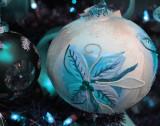 Lovely light-blue Christmas tree bulb