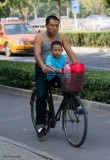 In the Morning the Father and his Son go to School