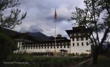 Flag Ceremony at Trashi cho Dzong - Thimphu