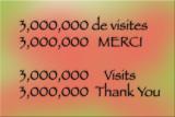 3000000 visits ... Thank You everyone Merci à tous ...